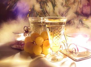Champagne de año nuevo