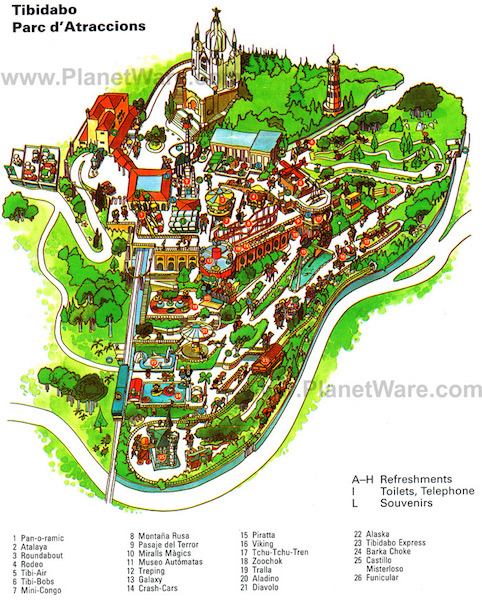 tibidabo-parc-datraccions-map